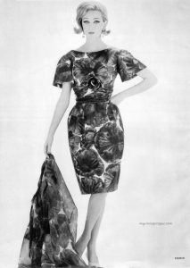 A print dress from 1962 houseofmirelle.uk