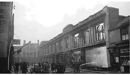 Edwin Davis building Blitzed during May 1941.