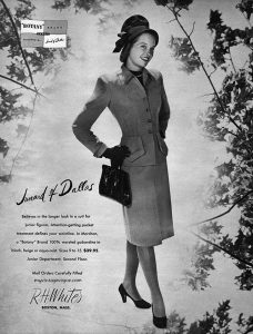 1946 fashion Advert houseofmirelle.uk