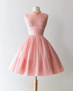 Baby pink 1950s prom dress houseofmirelle.uk