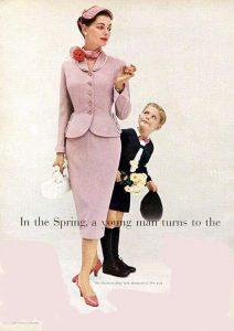 Vintage 1954 soft pink suit houseofmirelle.uk