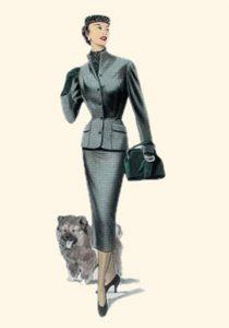 charcoal grey 1955 vintage suit houseofmirelle.uk