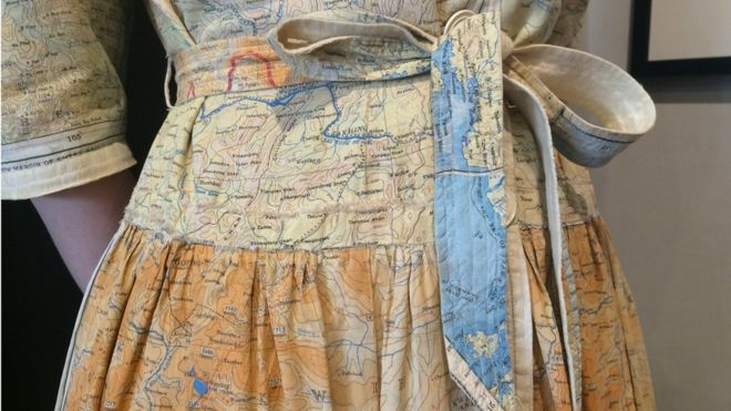 Harrogate Map Dress BBC houseofmirelle.uk