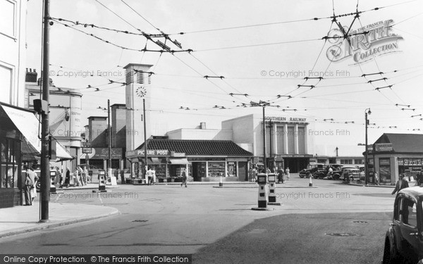 Surbiton Station circa 1955