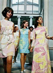 Frank Usher Crimplene Dress Advert 1969 houseofmirelle.uk