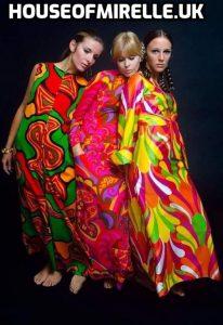 Psychedelic 1967 dresses houseofmirelle.uk