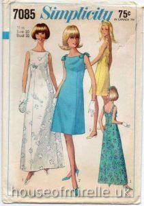 Simplicity Sewing Pattern 1967 houseofmirelle.uk