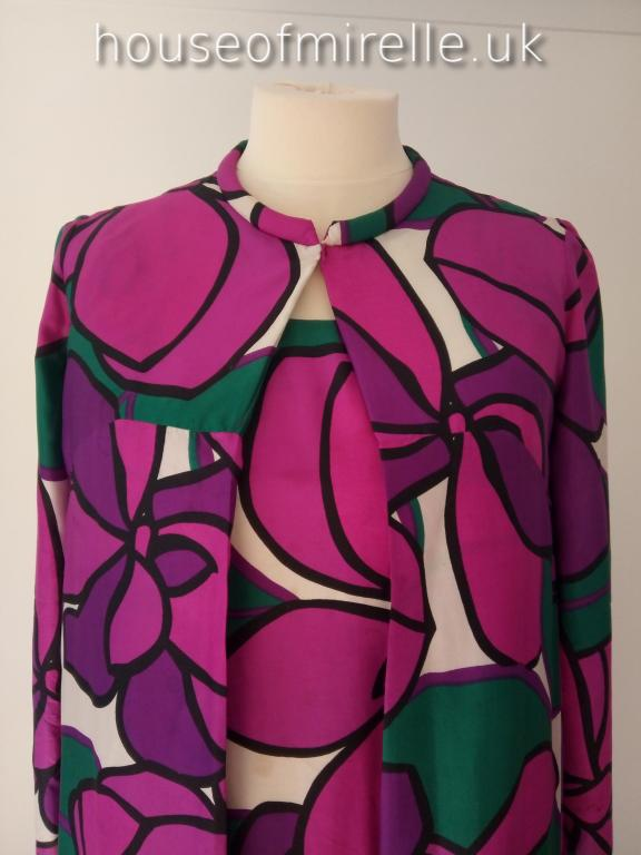 HouseofMirelle.uk a Frank Usher late 1960s Maxi Dress