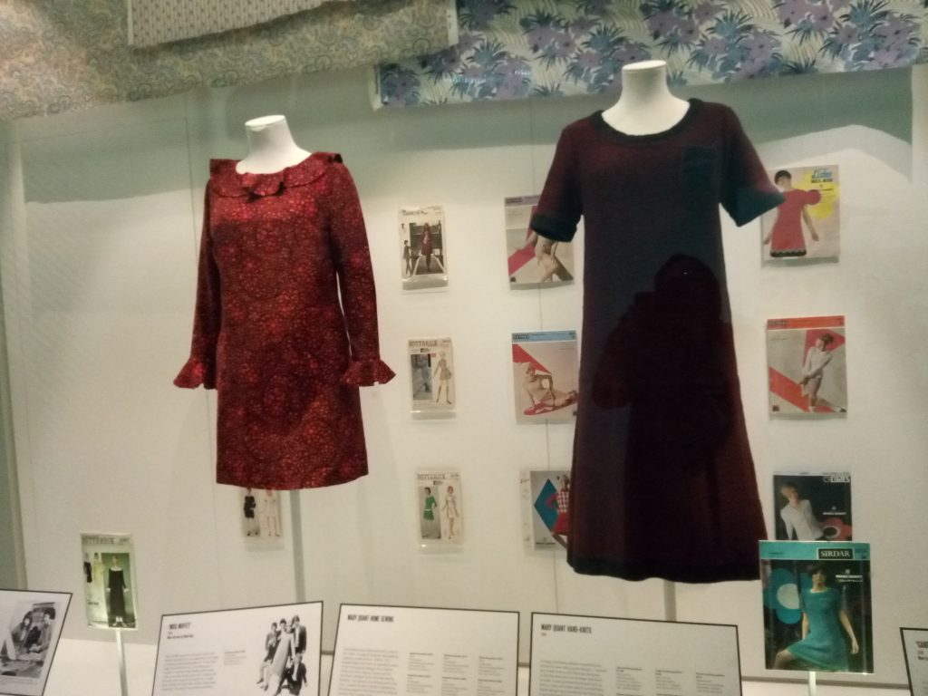 Mary Quant exhibition Butterick Paper Patterns and Knitwear