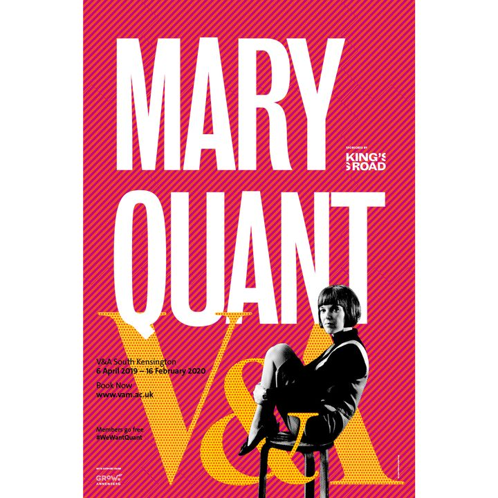 Mary Quant at the V and A Poster