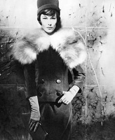 Michel Goma Fox Fur Collar Suit 1960