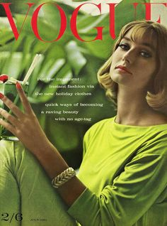 Tilly Masterson Vogue Front Cover 1960s