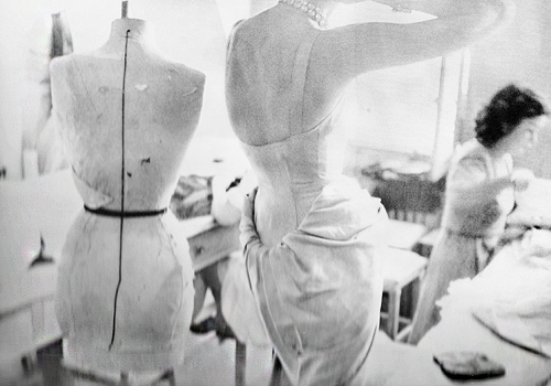 Christian Dior in the Workroom August 1947 houseofmirelle.uk