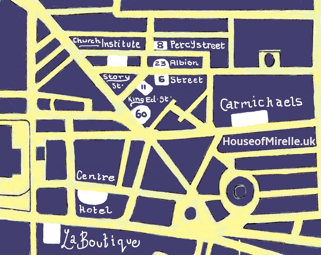 A Map for the website HouseofMirelle.uk
